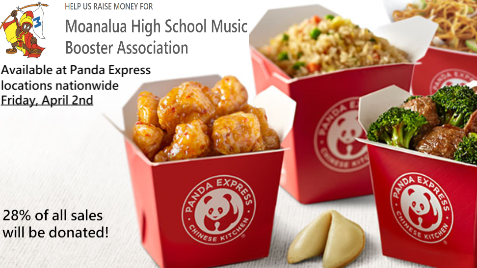 NEW Panda Express Fundraiser. Online/In App Purchases Only. Order Now!