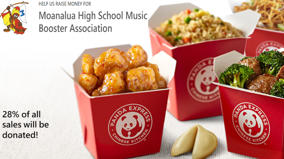 9/17 Panda Express Fundraiser. Online/In App Purchases Only. Order Now!